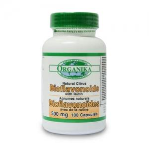 Bioflavonoizi citrici cu rutina - 500 mg - 100 capsule - pentru circulatia sangelui